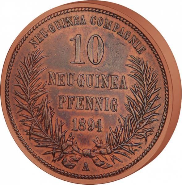 10 Pfennig Deutsch Neuguinea Vogel 1894 A ss-vz