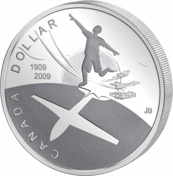 1 Dollar Kanada 100. Jahrestag erster Flug in Kanada