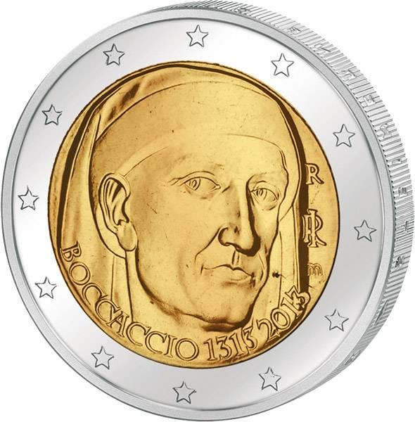 2 Euro Italien 700. Geburtstag Giovanni Boccaccio 2013 prägefrisch