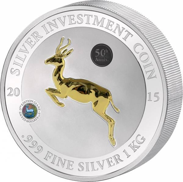 1 Kilo Gabun Silber-Gigant Springbock 2015