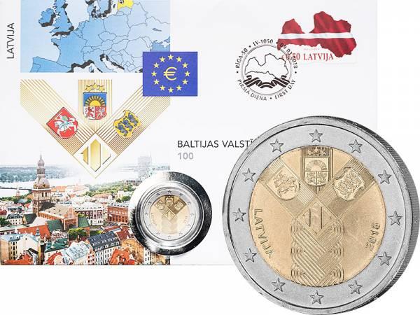 2 Euro Numisbrief Lettland 100 Jahre Unabhängigkeit 2018