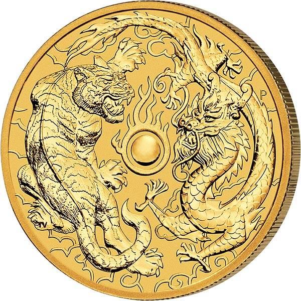 1 Unze Gold Australien Drache und Tiger 2019
