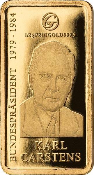0,5 Gramm Goldbarren Karl Carstens
