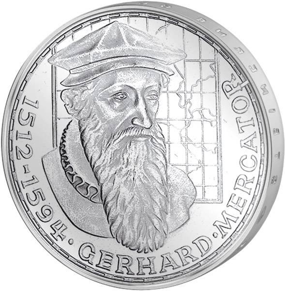 5 DM Münze BRD Gerhard Mercator m. Stempelfehler 1969 F vz-st