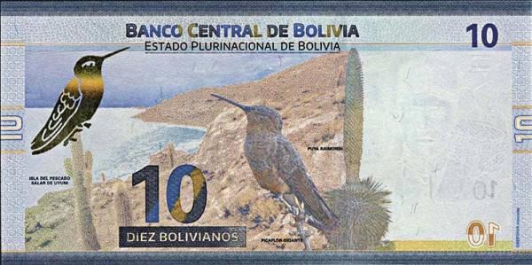 10 Bolivianos Bolivien Riesenkolibri 2018