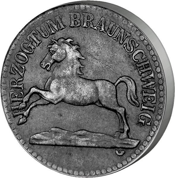 50 Pfennig Niedersachsenroß 1918.20   sehr schön
