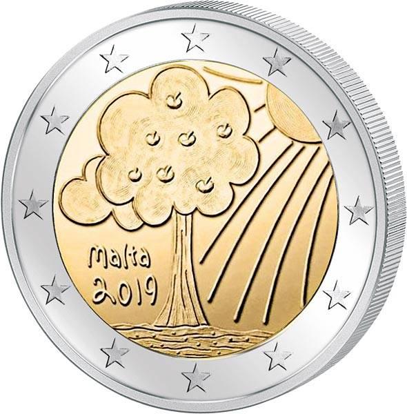 2 Euro Malta Von Kindern mit Solidarität Natur und Umwelt 2019
