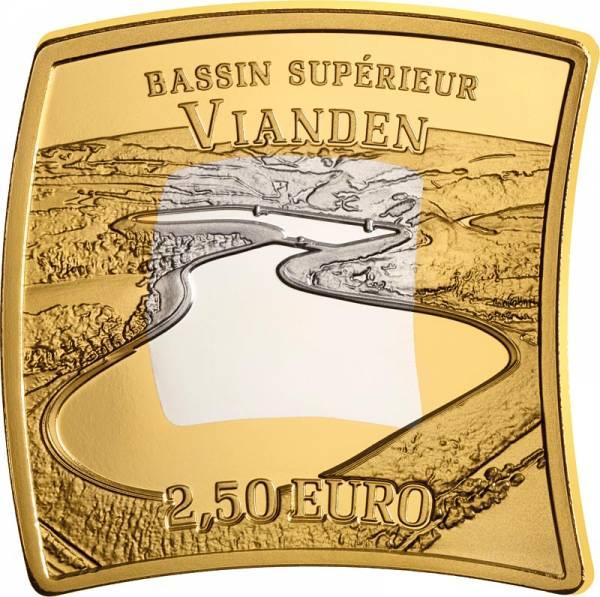 2,5 Euro Luxemburg Wasserkraftwerk Vianden 2018