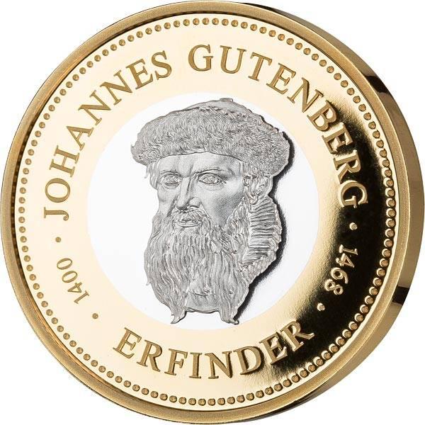 Gedenkprägung Johannes Gutenberg