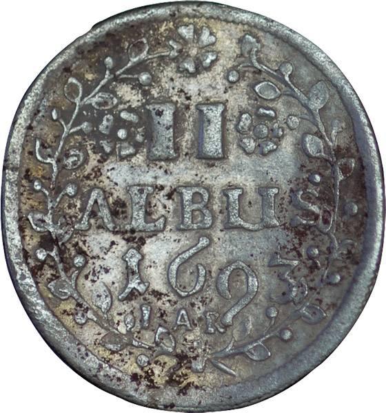 2 Albus Hessen-Darmstadt 1692-1708 Sehr schön