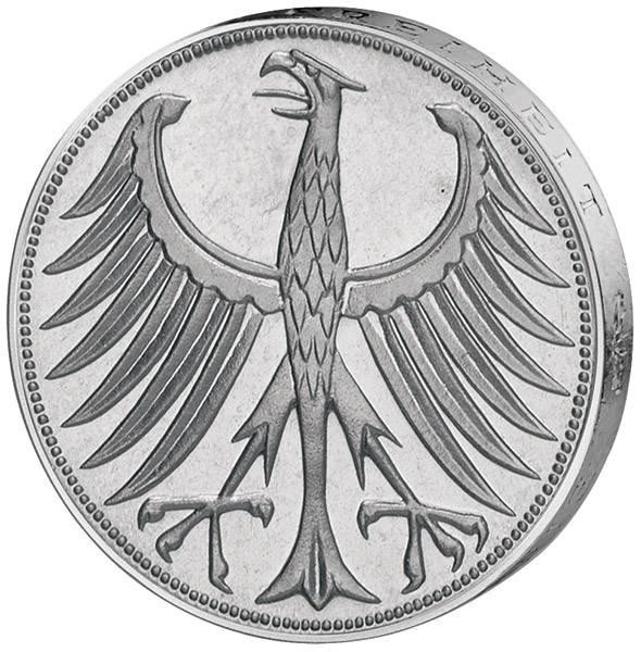 5 DM BRD Silberadler 1951-1974