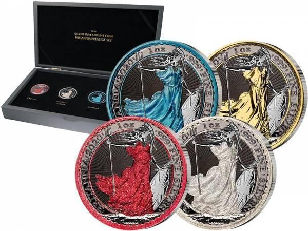 Silber Investment Coin Prestige-Set Britannia 2020