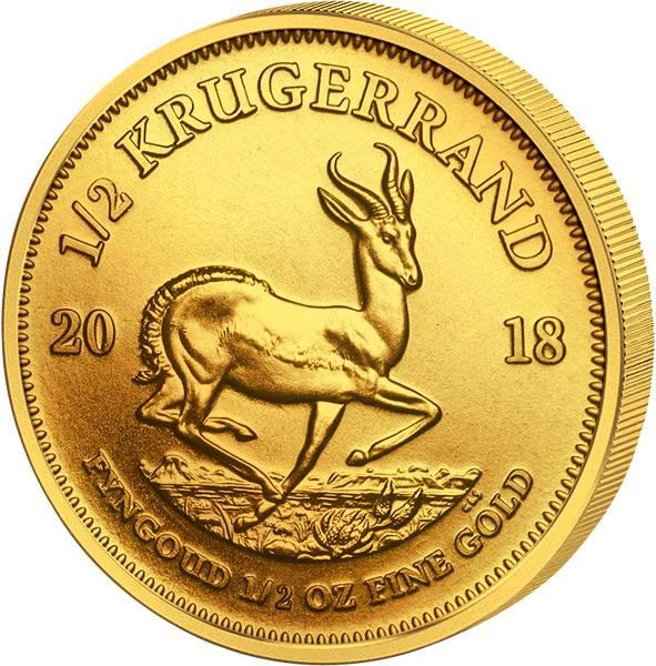 1/2 Unze Gold Südafrika Krügerrand 2018