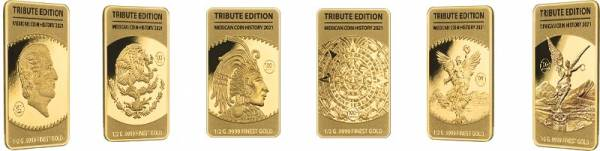 6 x 10 Dollars Salomonen Mexican History 2021