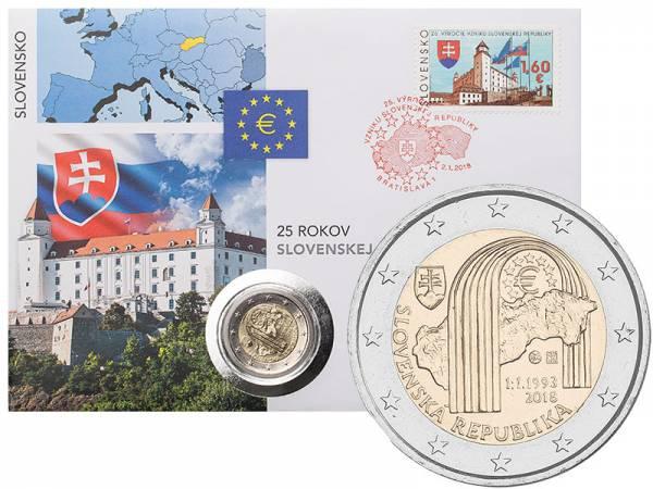 2 Euro Numisbrief Slowakei 25 Jahre Republik 2018