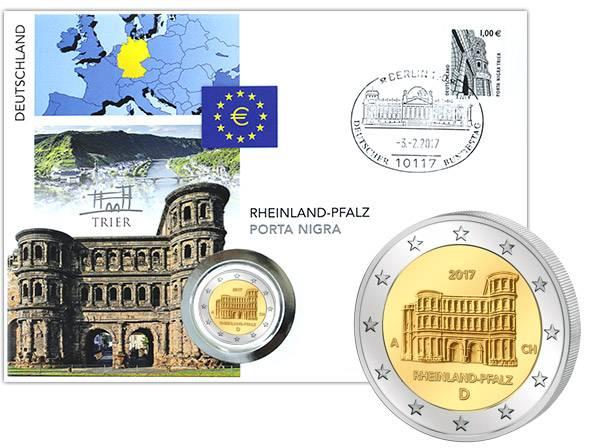 2 Euro Numisbrief BRD Rheinland-Pfalz Porta Nigra 2017