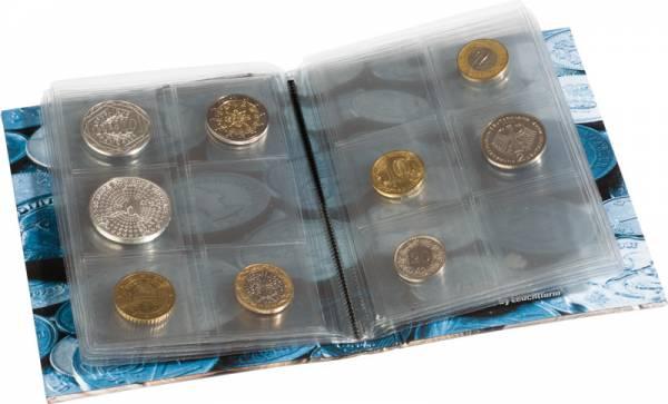 Münzen-Taschenalbum für 48 Münzen aus aller Welt