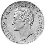 Taler Johann Silber 1854 Sehr schön