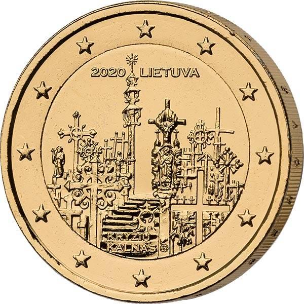 2 Euro Litauen Berg der Kreuze 2020 vollvergoldet