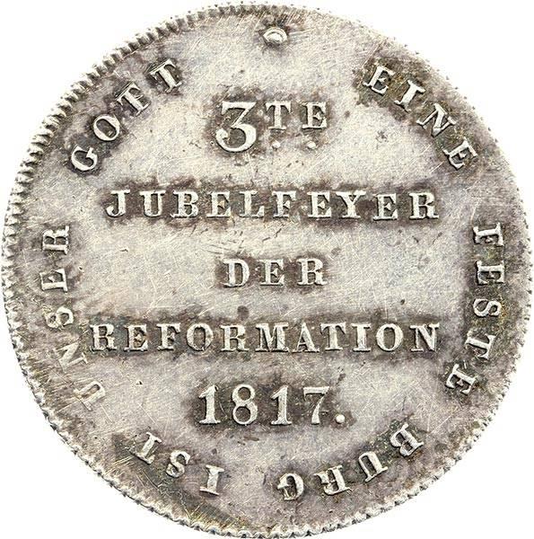 Silberdukat Frankfurt 300-jähriges Reformationsjubiläum 1817