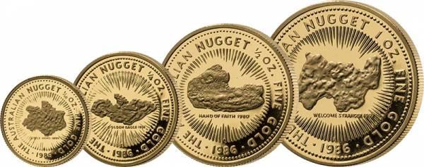 15 - 100 Dollars Australien Nugget Proof Set 1986