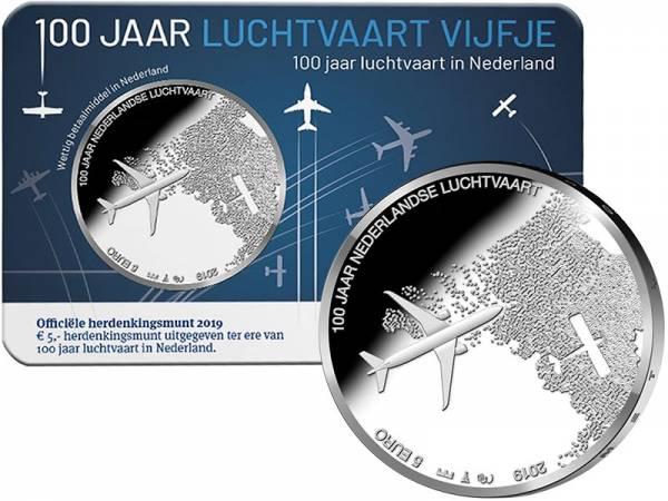5 Euro Niederlande 100 Jahre Luftfahrt 2019