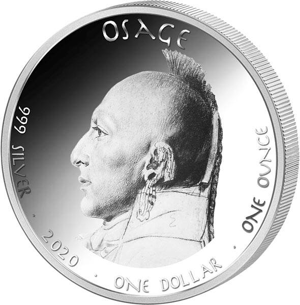 1 Dollar USA Native State Dollar Osage Maultier Missouri 2020