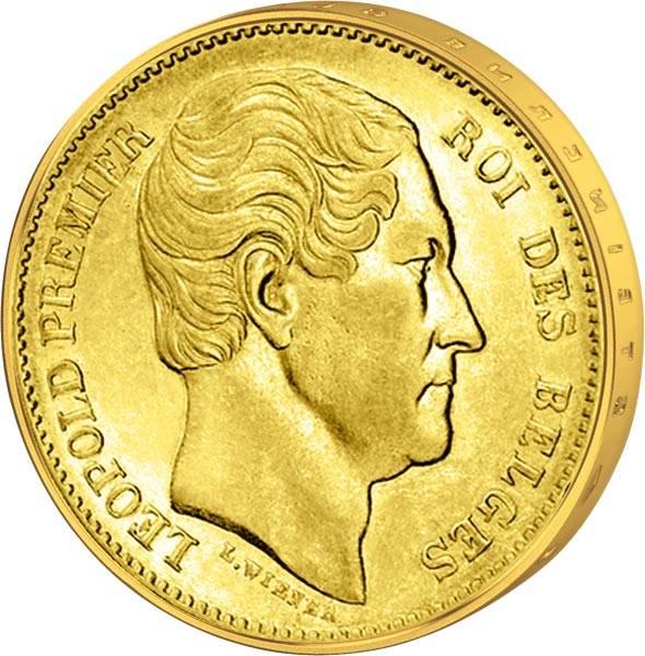 20 Francs Belgien Leopold I. 1862-65