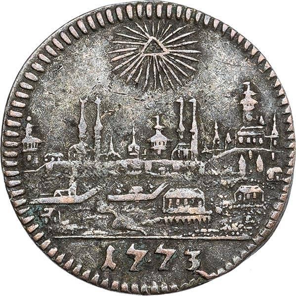1 Kreuzer Nürnberg Stadtansicht 1773