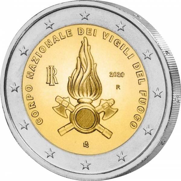 2 Euro Italien 80 Jahre Feuerwehr 2020