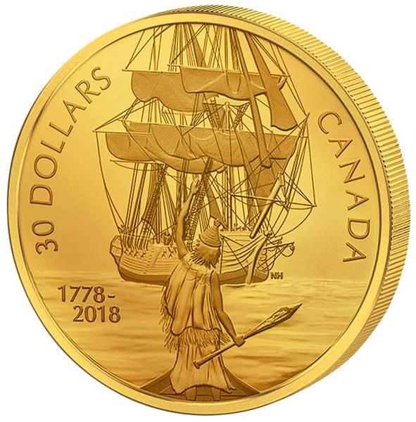 30 Dollars Kanada Captain Cook und die HMS Resolution 2018