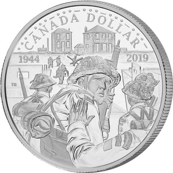 1 Dollar Kanada Jahrestag - 75 Jahre D-Day 2019