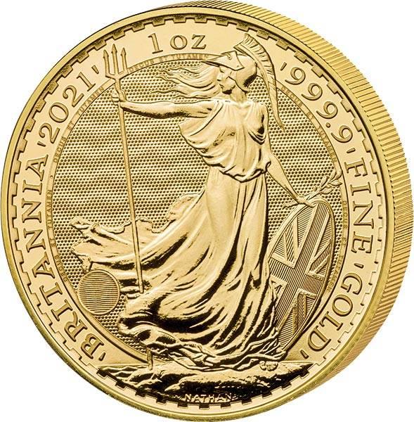 1 Unze Gold Großbritannien Britannia 2021