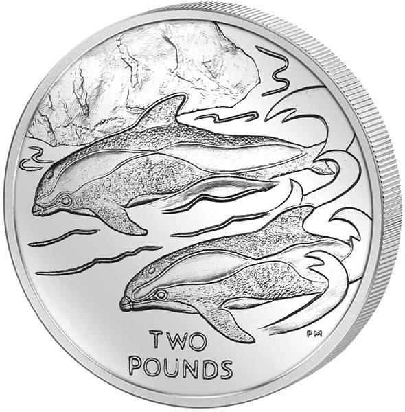 2 Pounds Britisches Antarktis-Territorium Delfin