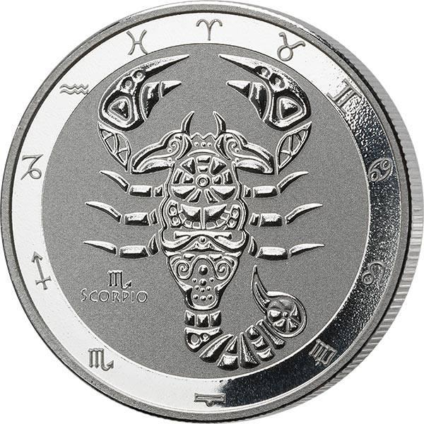 1 Unze Silber Tokelau Skorpion 2021