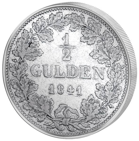 1/2 Gulden Bayern König Ludwig I. 1838-1848 Sehr schön