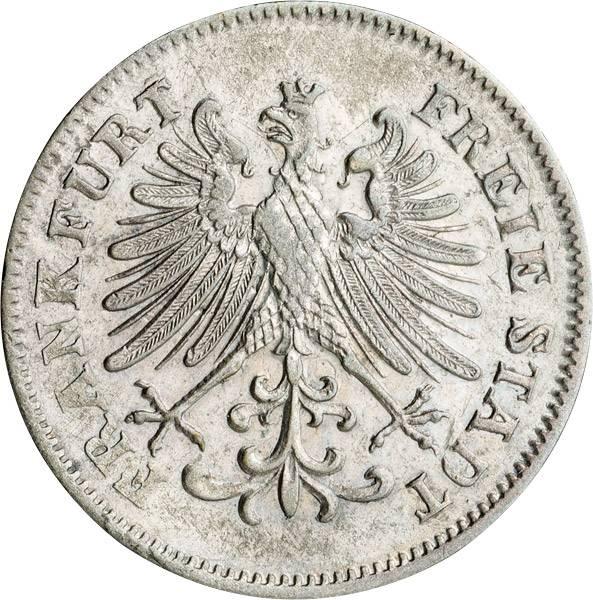6 Kreuzer Freie Reichsstadt Frankfurt 1846-1856