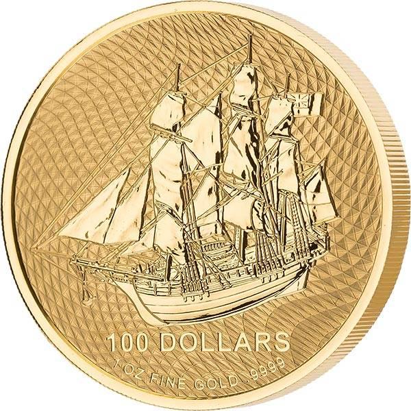 1 Unze Gold Cook-Inseln Bounty 2020