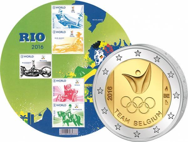 2 Euro Belgien Olympische Spiele in Rio 2016