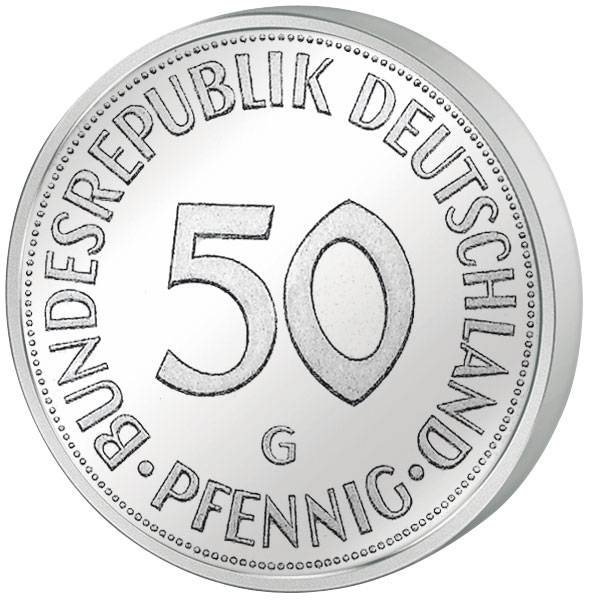 50 Pfennig (glatter Rand) BRD 1972