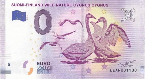 0-Euro-Banknote Finnland Singschwäne 2019