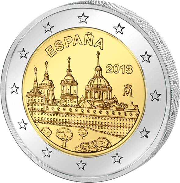 2 Euro Spanien Schloss El Escorial 2013 prägefrisch