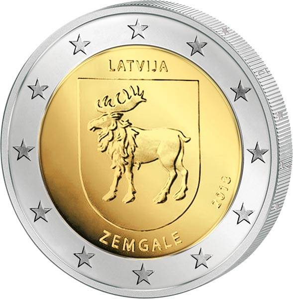 2 Euro Lettland Region Semgallen 2018