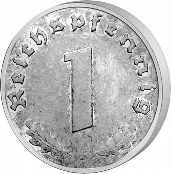 1 Pfennig Drittes Reich Ohne Hakenkreuz 1945-1946 Sehr schön