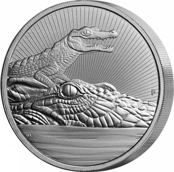 2 Unzen Silber Australien Krokodil 2019