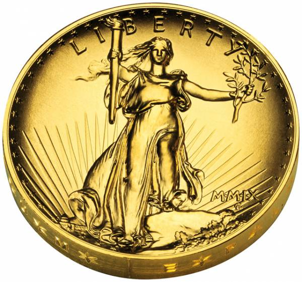 1 Unze Gold USA Hoch-Relief Double Eagle 2009