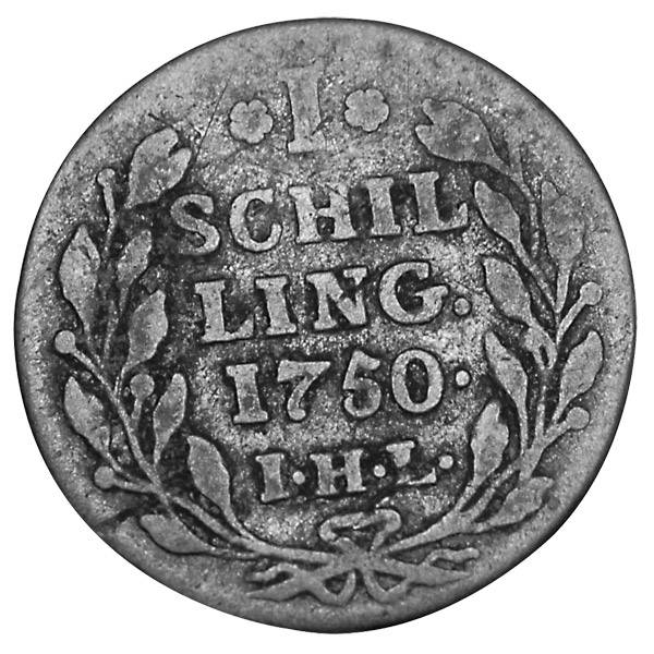 1 Schilling Hamburg Stadtwappen 1725-1768 Sehr schön