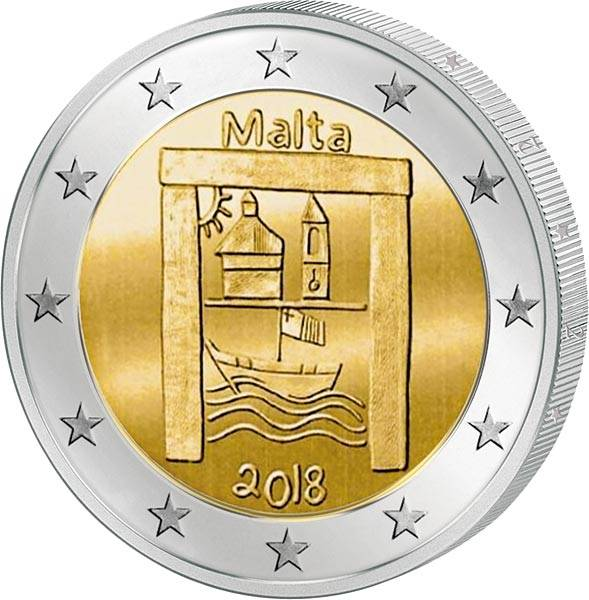2 Euro Malta Von Kindern mit Solidarität Kulturelles Erbe 2018