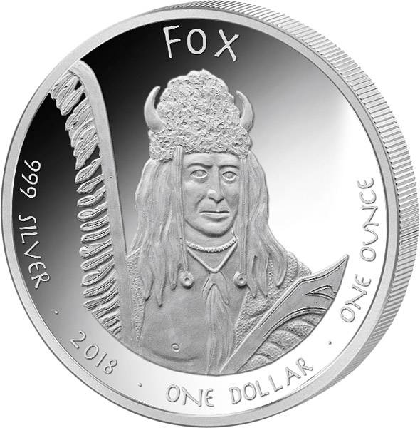 1 Dollar USA Native State Dollar Fox Iowa Kaninchen 2018