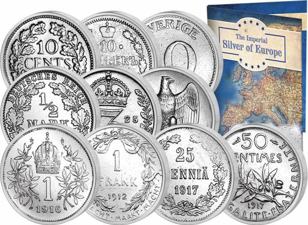 10er Set Imperial Silver of Europe